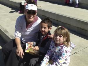 Teacher Kellie LeRibeus and Read Across America